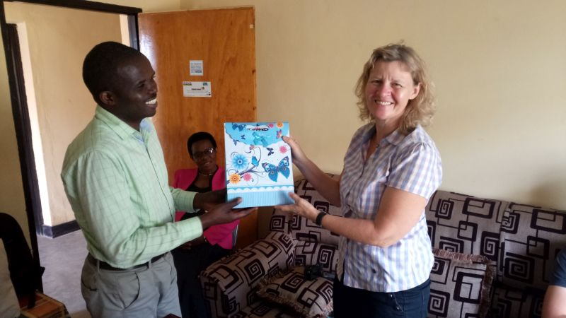 A small gift from RDIS organisation to the visitor; a simply part of Rwanda's hospitality!