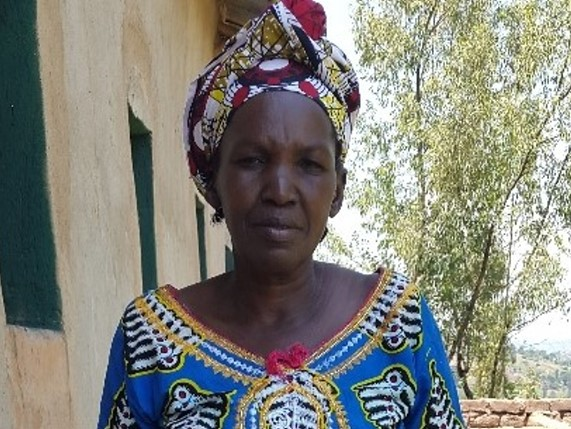 Mukahirwa Lydia, 56, small business of buying and reselling domestic animals