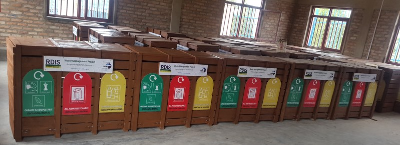 web waste bins ready for distribution